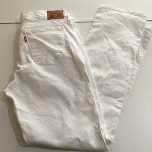 Levi's 505 White Straight Leg Jeans Sz 12 M 31x32